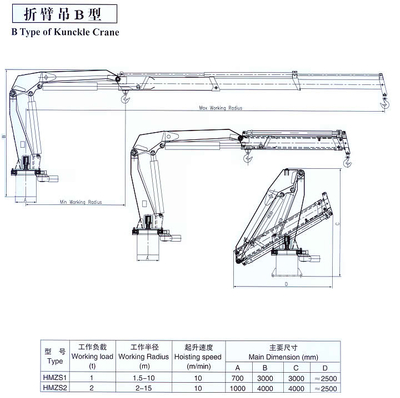 B Type Knuckle Boom Crane